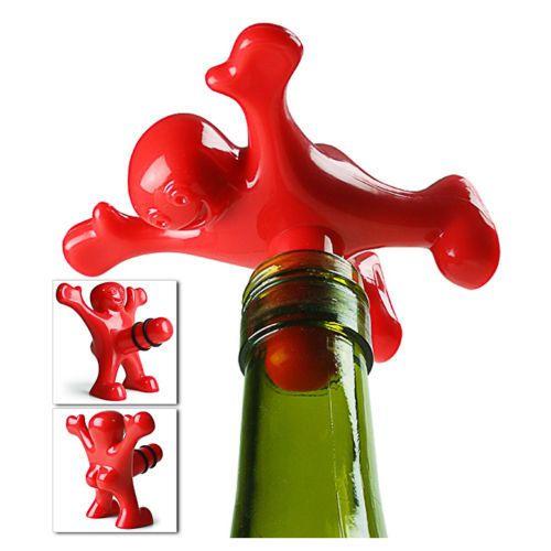 1 пк смешной счастливый человек парень пробка бутылка вилка веселым вино пробка новинка принадлежности для бара вино Creative подарки купить на AliExpress