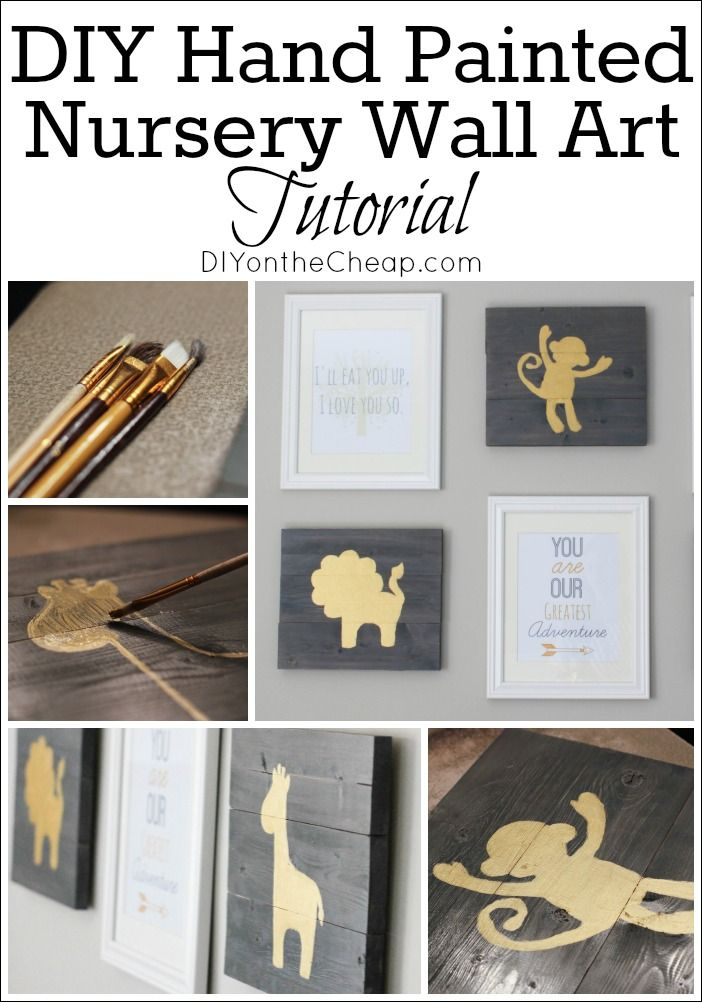 Check out this tutorial for how to make hand-painted nursery wall art! It's actually very easy, and you don't have to be an artist to do it.