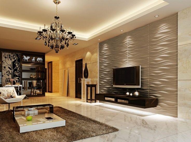 Moderne Dekoration Tapeten Stein Muster Tv Wand Images