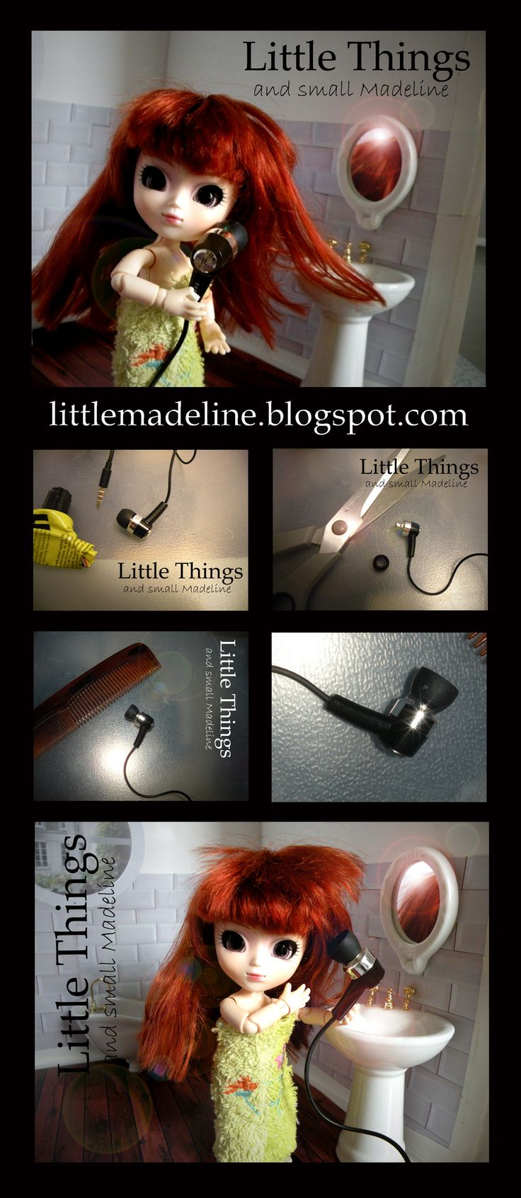 hair dryer for little pullip - miniatura 1:12