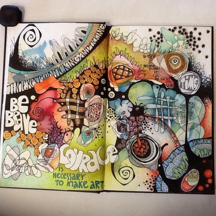 Art journal inspiration. (by Deb Weiers)