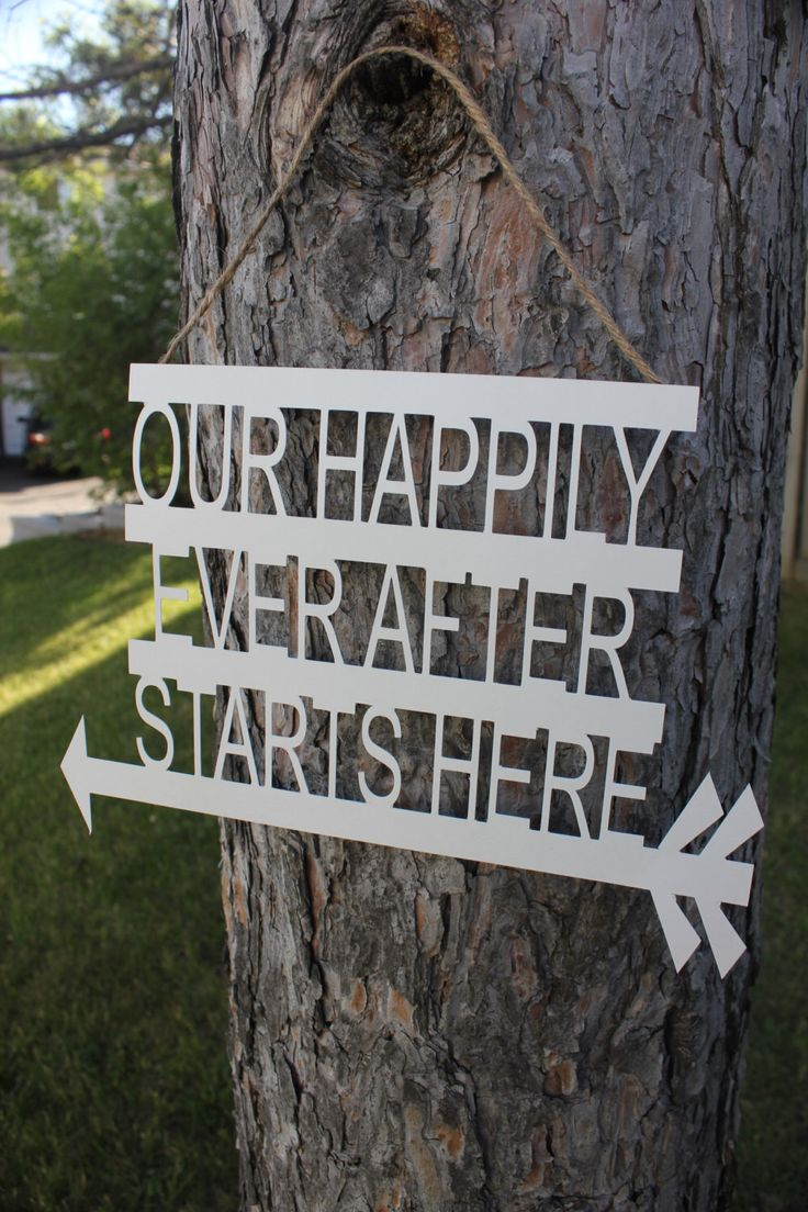 Our Happily Ever After Sign. Directional Sign for Weddings. Photoshoot Wedding Sign. Custom Make Any Quote on a Sign. by ScaleAndTailor on Etsy https://www.etsy.com/listing/236711138/our-happily-ever-after-sign-directional