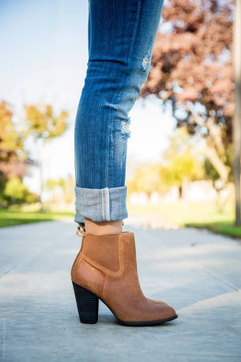 The Perfect Pair - Ankle Boots and Rolled up Jeans