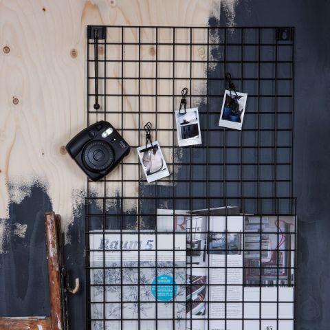 Granit.com - Förvaringstavla Rutnät Svart   Granit.com