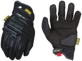 Mechanix Wear® Medium Black M-Pact® 2 Full Finger Synthetic Leather Anti-Vibration Gloves With Neoprene Hook And Loop Wrist, EVA Foam Padded Impact Zones And Rubberized Panels On Thumb, Fingertips And Palm