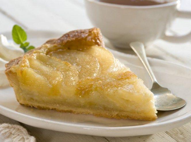 Torta de Peras Invertida. Dulce, riquísima y con muy pocas calorías.
