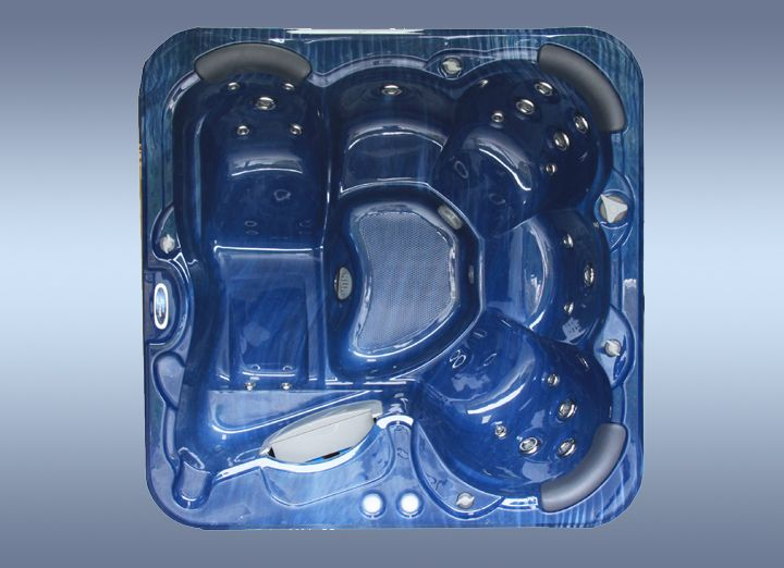 Countesa by zen spas in mosaic blue colour #hot-tub at http://www.hottubsuppliers.com/