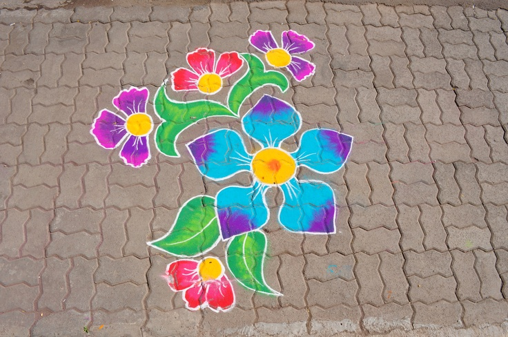 Indian Traditional Colorful Rangoli