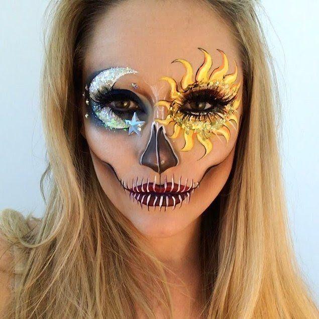 Делая трендовый «макияж-скелет», она опирается как на традиции, так и на модные веяния