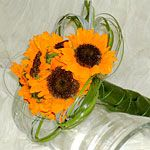 Sunflower bouquet for flower girls