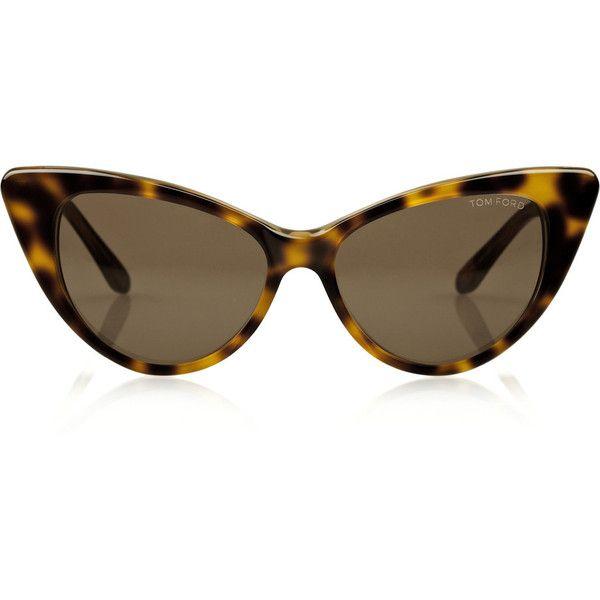 Cat-eye frame acetate sunglasses ($360) ❤ liked on Polyvore