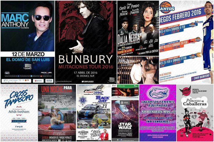 Agenda de eventos en San Luis Potosí durante 2016
