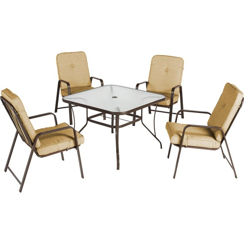 Metal chairs  no umbrella  square table  with umbrella hole  198  Garden  FurnitureFurniture ChairsPatio Dining  18 best Inexpensive 4 person dining patio set images on Pinterest  . Outdoor Dining Table No Umbrella Hole. Home Design Ideas