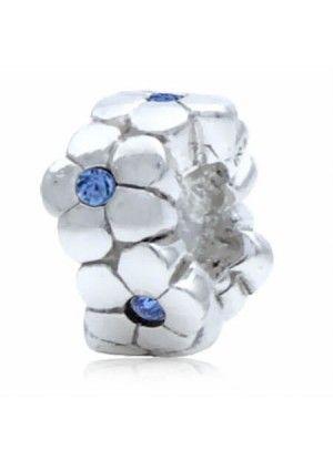 246fdd312814e Berloque de prata Separador flores