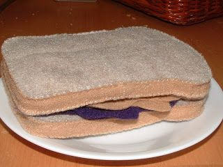 Pieces by Polly: Peanut Butter and Jelly Sandwich, Felt Style- Felt Food Cook-Along Day 24