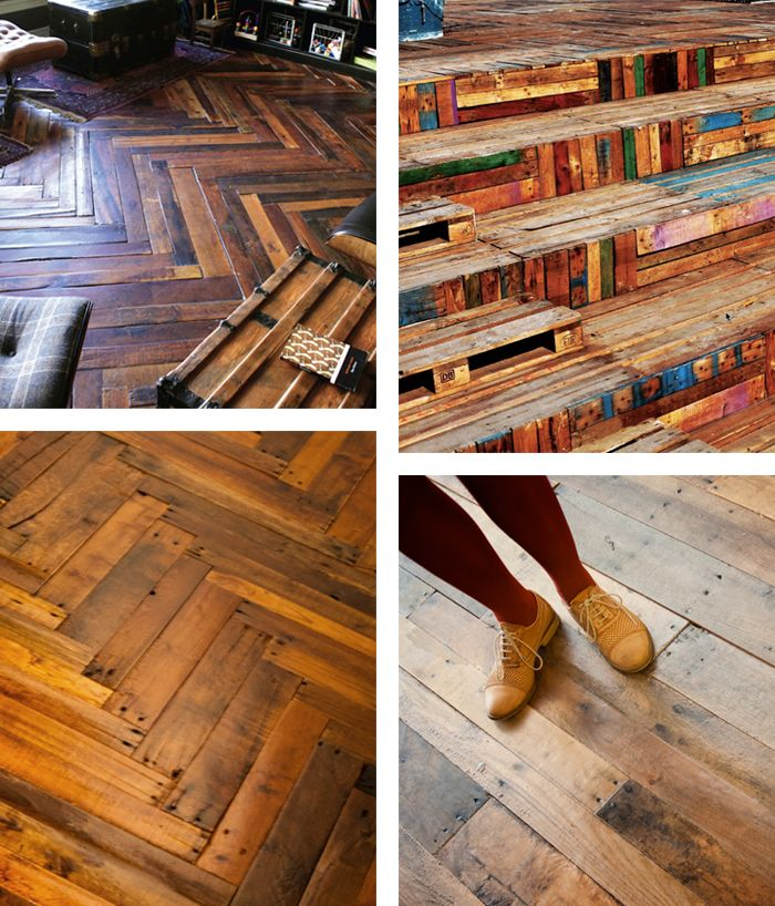 wow! recycled pallet floors
