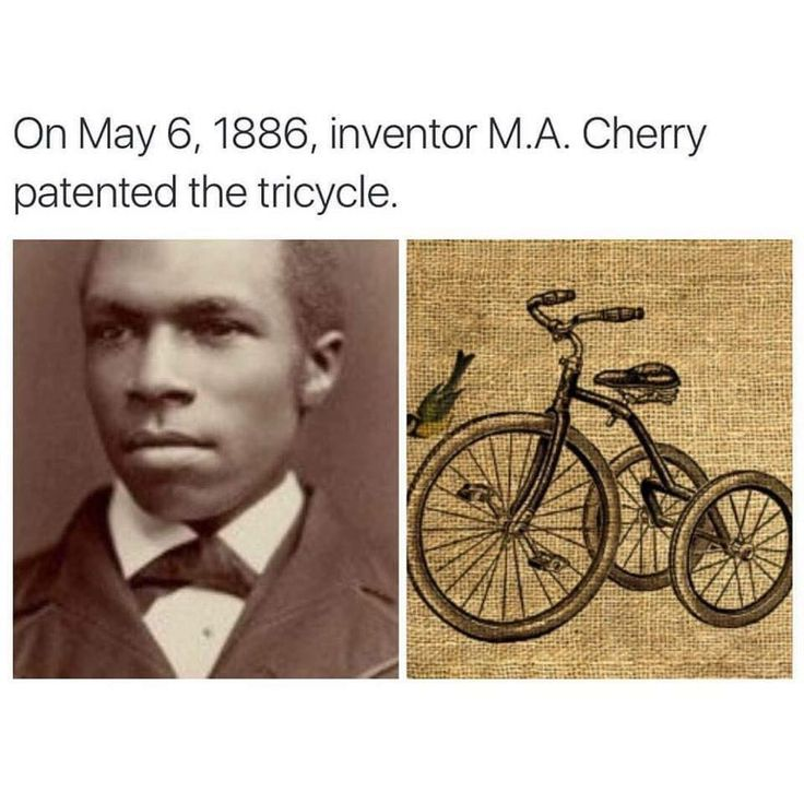 On May 6, 1886, inventor M.A. Cherry patented the tricycle