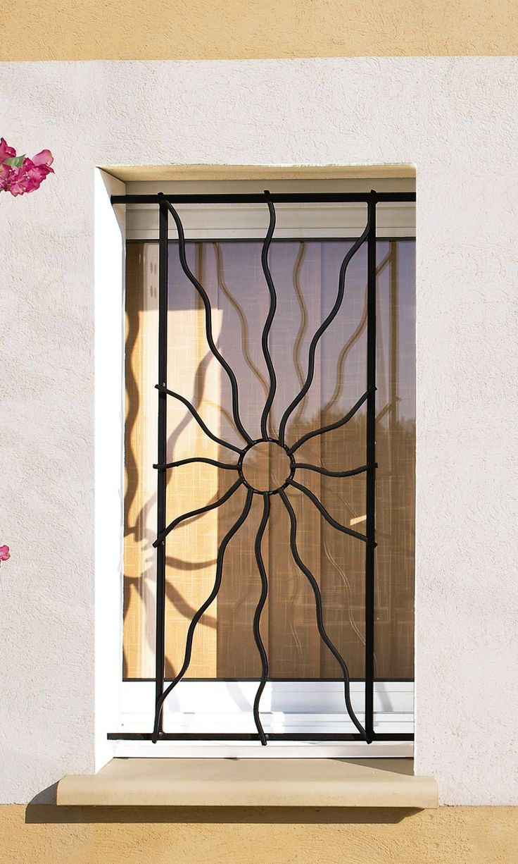 8 best d fense fer forg images on pinterest home ideas window grill and grill design for Modeles de grilles en fer forge