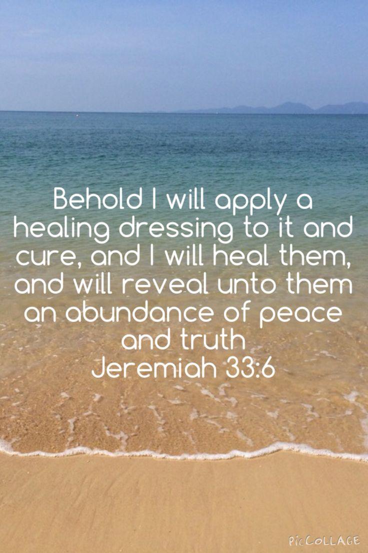 Jeremiah 33:6. Bible Verse on Healing