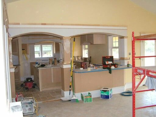 Replace load bearing wall.                                                                                                                                                      More
