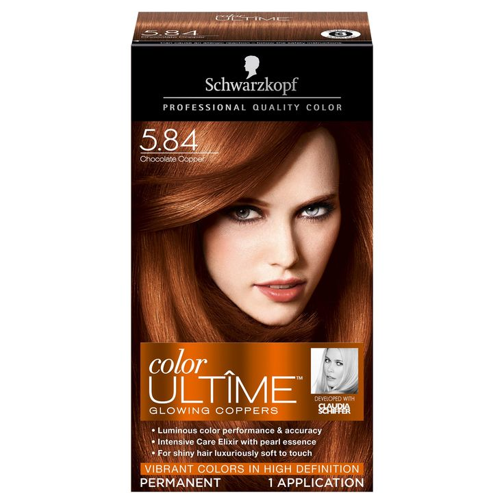 Schwarzkopf Color Ultime Glowing Coppers Hair Color 5.84 Chocolate Copper - 2.03 fl oz