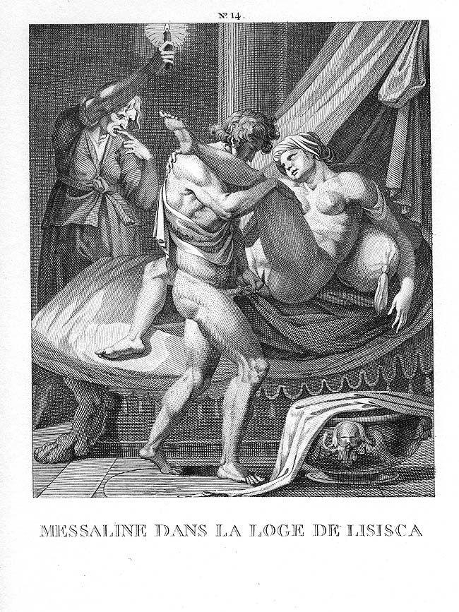 messaline dans la loge de lisisca, agostino carracci (late 16th c)