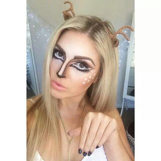 25+ Best Ideas About Reindeer Makeup On Pinterest | Deer Costume Makeup Deer Costume Diy And ...