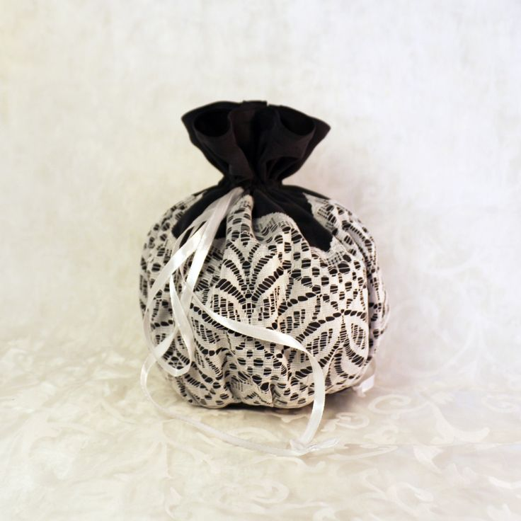 Grey silk with white lace pompadour purse evening handbag wristlet drawstring reticule by AlicesLittleRabbit on Etsy