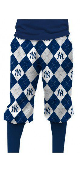 Yankees Argyle Gray Knickerbockers MTO