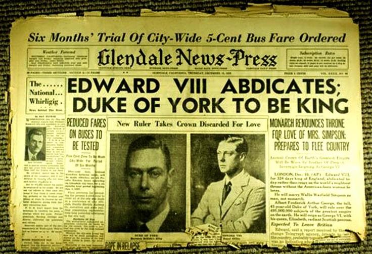 Edward VIII abdicates.
