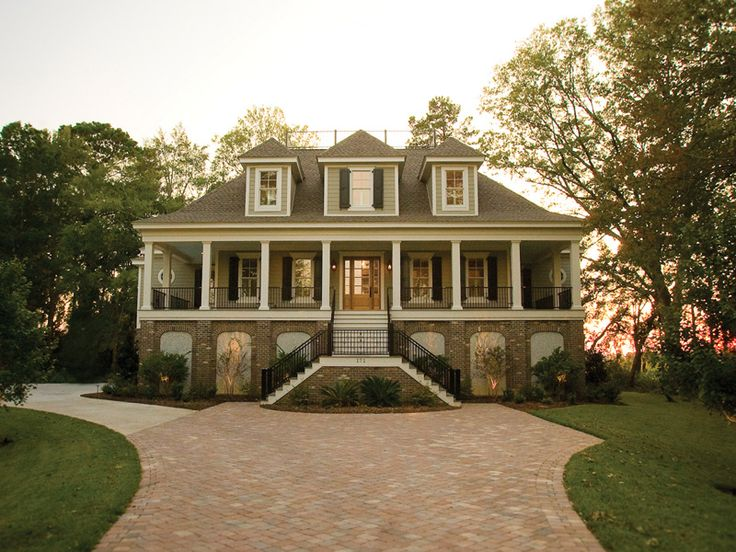 Vanderbilt lowcountry home luxury house plans house for Raised home designs