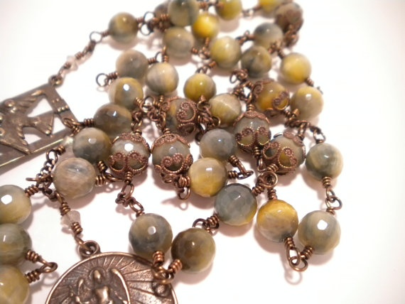 St Michael the Archangel Chaplet Rosary w by VirgoPotensRosaries, $125.00