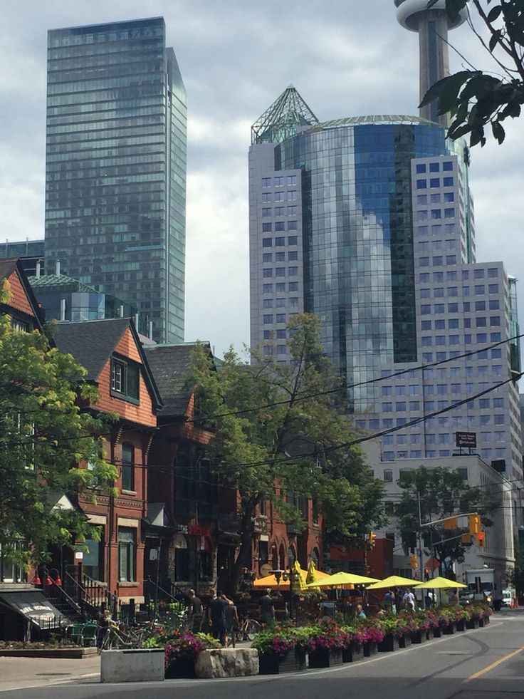 The old & the new in #toronto