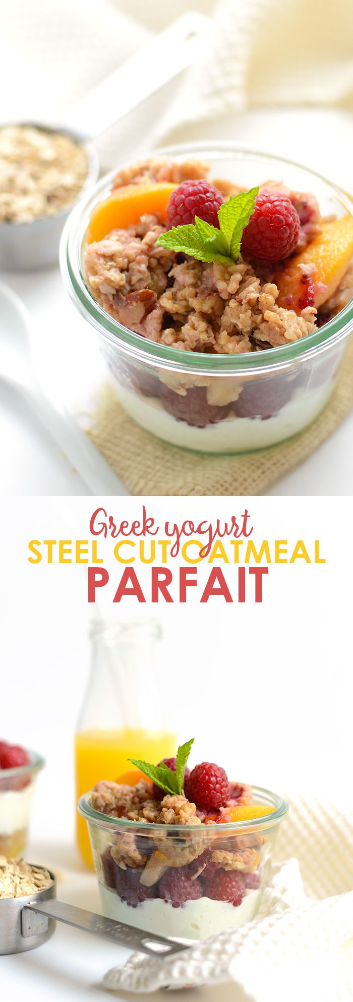 ... and Steel Cut Oatmeal Parfait | Recipe | Oatmeal, Protein and Parfait