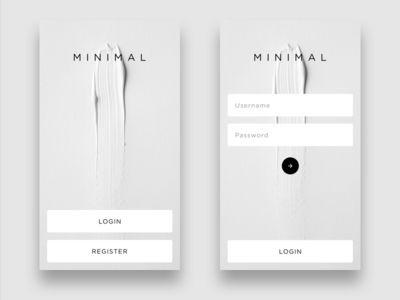 Minimalistic Login
