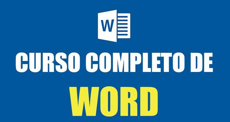 Completo curso de Word gratis, para aprender desde lo más básico hasta lo más avanzado de este programa.