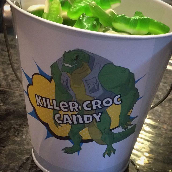 Killer Croc Candy. Just gummy gators. Batman and Villains superhero themed birthday party.