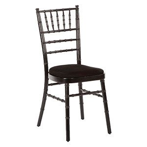 Black Camelot chair, with black seat pad
