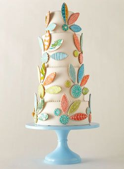 Wedding Cake #wedding: Cakes Ideas, Sugar Cookies, Wedding Cakes, Colors Schemes, Flowers Cakes, Eating Cakes, Beautiful Cakes, Cakes Stands, Fondant Cakes