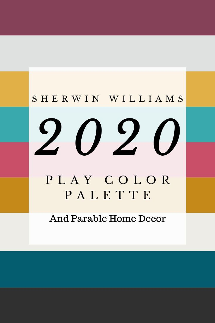 Sherwin Williams 2020 Play Forecast Color Palette And Matching Home Decor 2020colortrends 2020colortrendshome Paint Trends Trending Decor Sherwin Williams