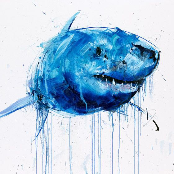 Brit painter Dave White's terrors of the deep exert a real animal attraction...  http://www.weheart.co.uk/2014/06/12/dave-white-apex-at-gusford-gallery-los-angeles/