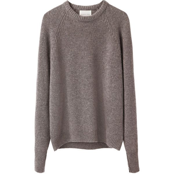 La Garçonne Moderne Gamine Pullover (315 CHF) ❤ liked on Polyvore featuring tops, sweaters, jumpers, sweaters/cardigans, crew neck jumper, raglan sweater, crewneck sweaters, crew neck pullover sweater and oxford sweaters