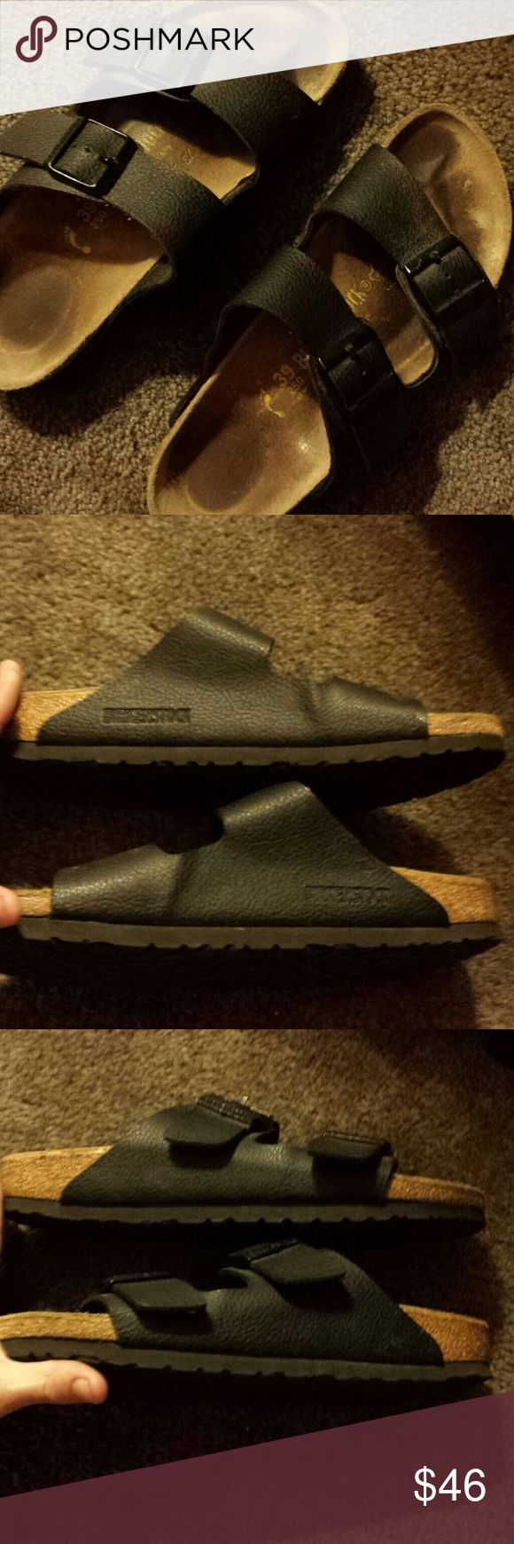 Birkenstocks Size 8.5/9 I bought two pairs of Birkenstocks 4 years ago and fell in love with a pair that I wear constantly. I never wear these. I think I've worn them 5/6 times. They are in like-new condition! Just see the pics. Not even a scuff. No trades on this item, thanks for not asking and 4 understanding. Reasonable offers only.  Thanks for browsing my closet! Birkenstock Shoes Sandals