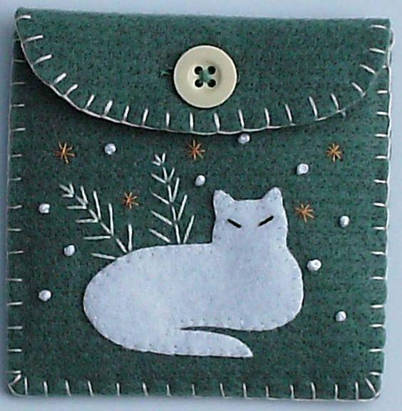 bolsa de gato en fieltro - Buscar con Google