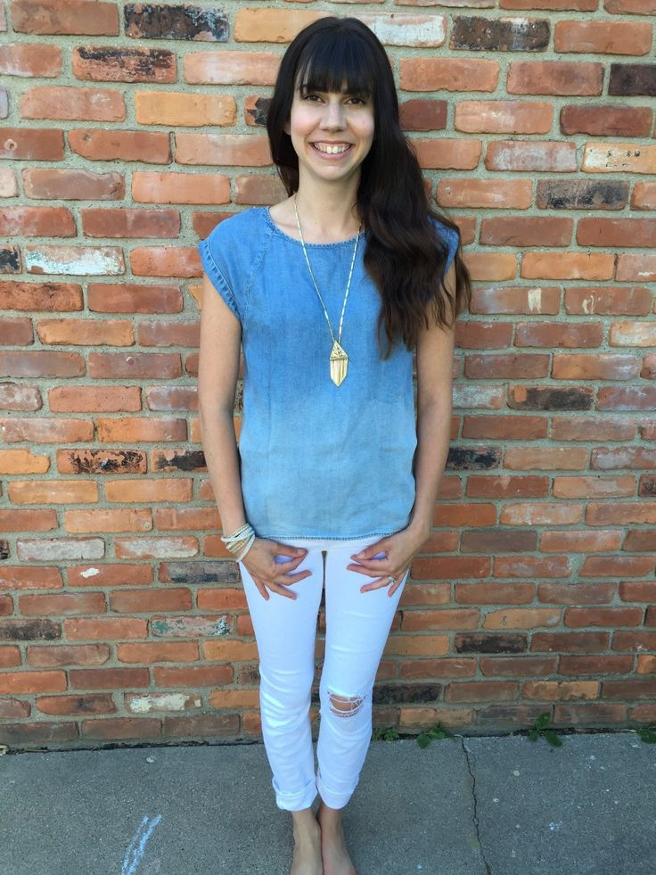 Cybil Chambray Top by Market & Spruce from my Summer Stitch Fix Box June 2016 // a monkey and his mama