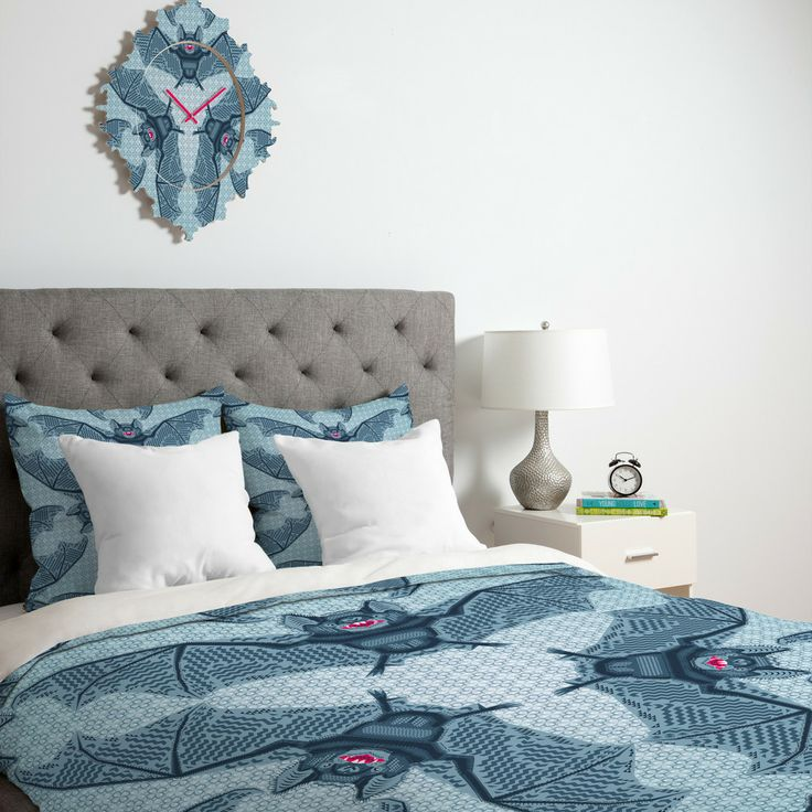 Chobopop Geometric Bat Pattern Duvet Cover | DENY Designs Home Accessories