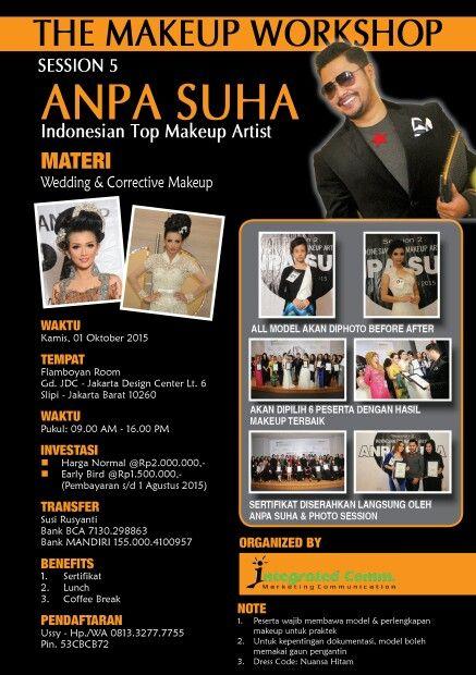 . THE MAKEUP WORKSHOP  ANPA SUHA -Session 5 Indonesian Top Makeup Artist