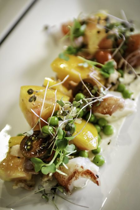 Lobster and Heirloom Tomato Salad from Aspen's Food and Wine Festival Oh my that sounds so good.