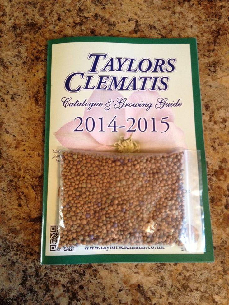 Clematis Food granules & Growing Guide Clematis, Food
