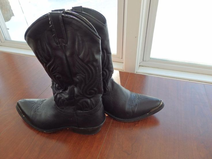 Western Boots, Steal Toed Cowboy Boots, Men's Leather Boots, Size 10 #unknown #CowboyWestern